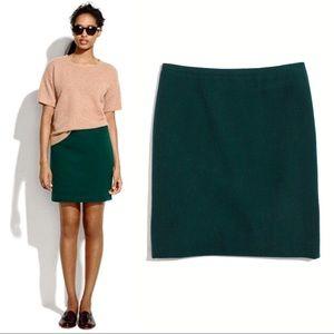 Madewell Emerald Green Wool Courtyard Mini Skirt 4